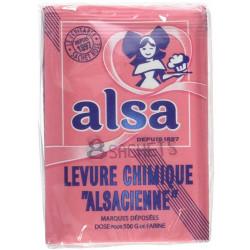 Levure chimique ALSA 88g  (8 sachets de 11 g)