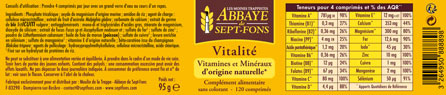 Vitalité multivitamines d'origine naturelle