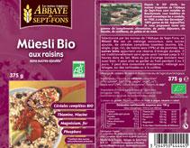 Muesli Raisins Bio emballage