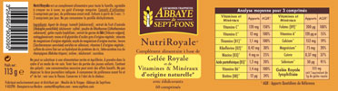 Packaging Nutriroyale Gelée Royale Vitamines Naturelles